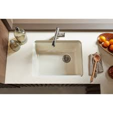 kohler riverby undermount kitchen sink kohler k 5872 5ua1 0 riverby white undermount single bowl kitchen