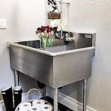 stainless steel laundry sink design ideas