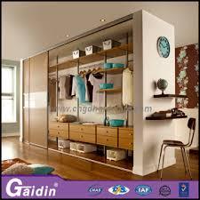 L229 China closet sliding door roller wardrobe bedroom portable