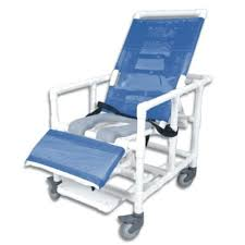 Bariatric Transport Chair 24 Seat by Pvc Reclining Bariatric Shower Commode Chair With Open Seat