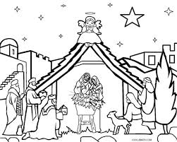 Printable Nativity Scene Coloring Pages For Kids Cool2bkids
