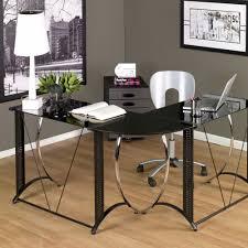 pretty glass l shaped desk all home ideas and decor tempered