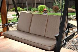 Decorating Brown Lowes Patio Cushions With Swing For Patio