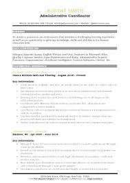 Resume Samples Administrative Assistant Best Project Coordinator Templates For