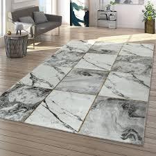 wohnzimmer teppich grau gold 3 d rauten muster marmor optik
