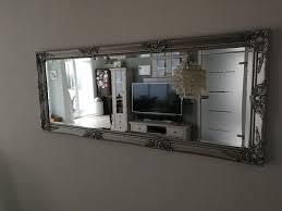 wandspiegel spiegel silber wohnzimmer esszimm