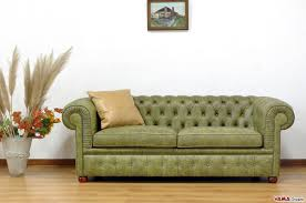 Olive Green Vintage Aged Leather Chesterfield 2 Maxi Seater Sofa Two Large Cushions