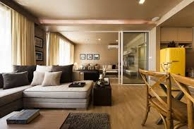 Cozy Family Room Decorating Ideas With Dining Combination Also Using Sliding Glass Door