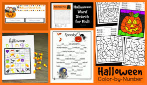 Haunted Halloween Crossword Puzzle by Crayon Freckles 25 Free Halloween Printables For Kids
