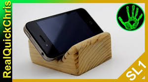 How To Make A Wooden Phone Stand Very Easy Diy Project Build Holder Is Great Basic Woodworking This An