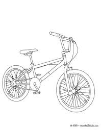 BMX Bike Color In Coloring Page