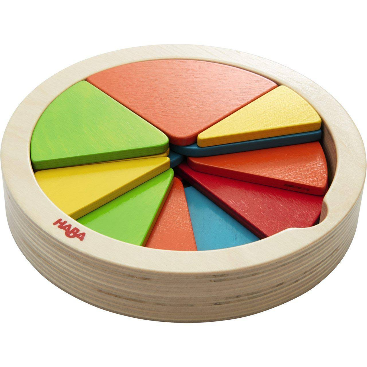 Haba Color Pie Wooden Arranging Game - for Ages 2