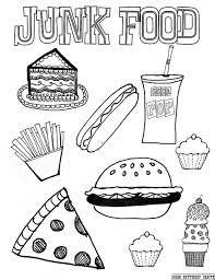 Junk Food Coloring Page