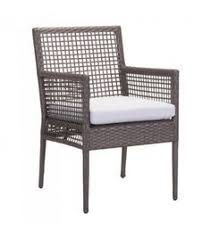 Brown Basket Weave Patio Dining Chair Set of 2
