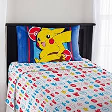 Amazon Pokemon Pikachu Kids Twin Bedding Sheet Set Home