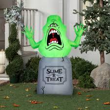 Halloween Blow Up Yard Decorations Canada by Gemmy Airblown Inflatable 5 U0027 X 4 U0027 Slimer Ghostbusters Halloween