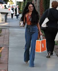 Vanessa Hudgens Nails Boho Chic In Seventies Inspired Denim Jeans