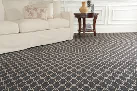 Arabesque Patterned Whittier Wilton Contemporary Living Room Grey Carpets