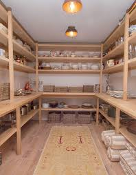 Interesting Pantry Shelf Construction Larger Shelves Below Practical Bench Food Storage Above