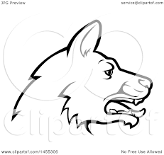 German Shepherd Pumpkin Stencils Free by Clipart Of A Black And White Profiled German Shepherd Dog Face
