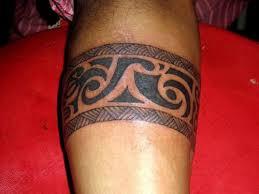 Hawaiian Black Ink Armband Tattoo