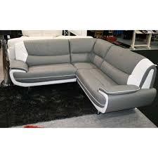 canapé simili cuir gris design canapé angle moderne droit ou gauche simili