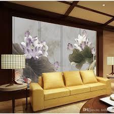 3d Wallpaper For Walls 3 D Custom Murals Setting Wall Decoration Retro Lotus Background Paintings Home Decor Widescreen Desktop Wallpapers