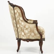 louis xvi chair antique 19th century rococo revival antique bergere armchair in louis xv