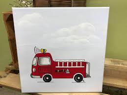 100 Fire Truck Wall Art Automobile Nursery Print