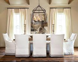 Luxury Dining Chair With Slipcovers Dinning Fit Covers Reviews Room Pottery Barn Napa