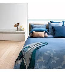 hugo housse de couette waterwalk bleu maison linge housses