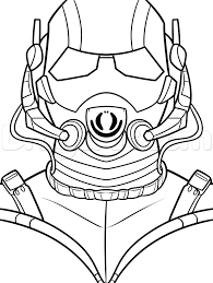 How To Draw Ant Man Step 9