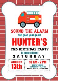100 Fire Truck Birthday Party Invitations Invitation Oscarsitosroom