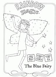 Rainbow Fairy Coloring Pages 7 Magic To Download And Print For Free