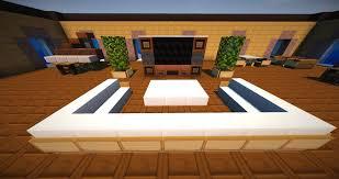 Minecraft vanilla livingroom furniture map 01