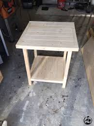 Diy Simple Wooden Desk by Remodelaholic Rustic Square Bedside Table Building Tutorial