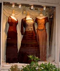 Brown The Ballgown Display In