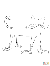 Click The Pete Cat I Love My White Shoes Coloring Pages To View Printable