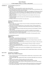 Download Lead Business Analyst Resume Sample As Image File