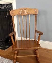 Vintage Chair, Baby Nursery Decor, Oak Hill Furniture ...