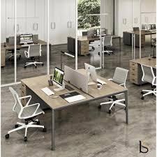 bureau 2 personnes bureau bench 2 personnes sur caissons x5 officity bureaux bench