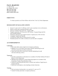 Resume Cover Letter Sample Law Enforcement New For Police Ficer With No Experience