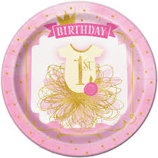 Pink And Gold Birthday Decorations Canada by 1st Birthday Party Supplies