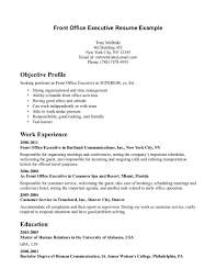 medical office front desk resume sle objective profile include
