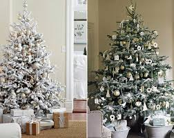 Flocked Christmas Trees Inspired By Fashions Best On The Interior Collective