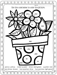 Two Digit Addition Math Coloring Worksheets