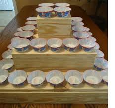 3 Tier Diy Rustic Cupcake Wedding Cake Stand