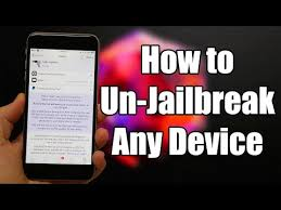 How to Un Jailbreak Your iPhone iPod & iPad Without puter