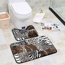 keainideni toilettenmatte 2st moderne badezimmermatte set u