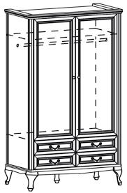 casa padrino luxus jugendstil schlafzimmerschrank dunkelbraun 114 5 x 60 x h 206 cm massivholz kleiderschrank mit 2 türen und 4 schubladen barock